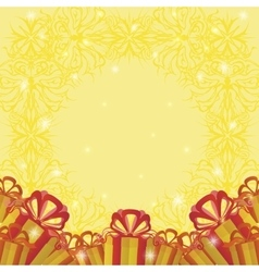 Holiday background with gift boxes vector