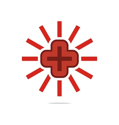 Logo red medical icon design perfect vector