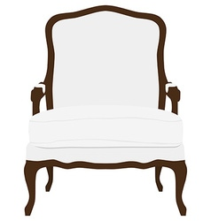 Vintage white armchair vector