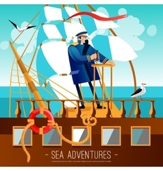 Sea adventures cartoon vector