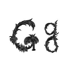 Abstract letter g logo icon black and white design vector