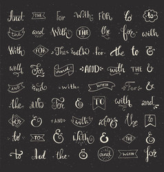 Ampersand and catchwords vector