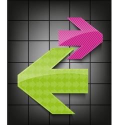 arrows icon vector image vector image
