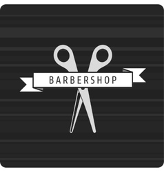 Barbershop logo scissors vector