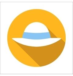 Beach hat flat icon vector