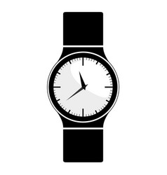 Black silhouette with male wristwatch vector