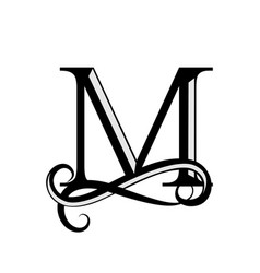 Capital letter for monograms and logos beautiful vector