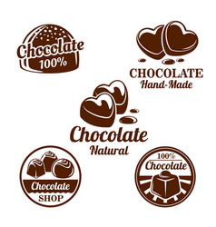 chocolate cacao sweets symbol set for food design vector image