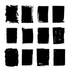 Collection of hand drawn rectangle stains vector