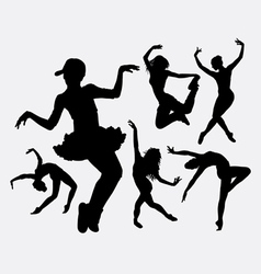 Cool dancing silhouette vector image vector image