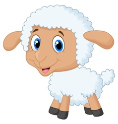 Cute lamb cartoon vector image