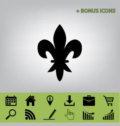Elements for design black icon at gray vector