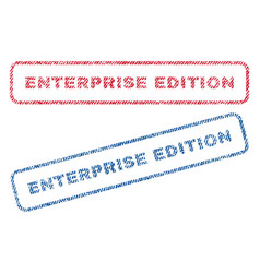 Enterprise edition textile stamps vector