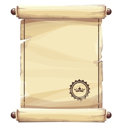 grungy parchment vector image