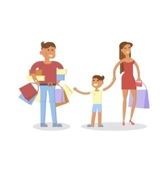 Happy family concept vector image