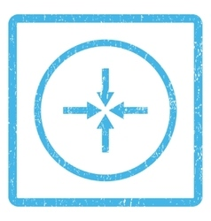 Impact arrows icon rubber stamp vector