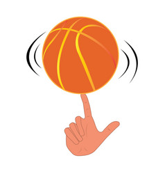 Isolated basketball trick vector