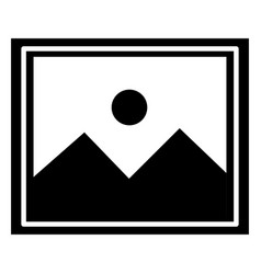 Landscape snapshot isolated icon vector