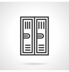 Locker black line icon vector