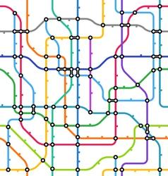 metro scheme seamless background vector image