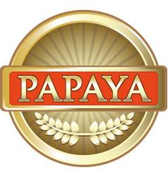 Papaya gold icon vector
