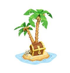 Pirates treasure island vector