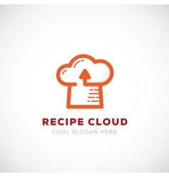 Recipe Cloud Abstract Logo Template Online vector image vector image