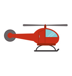 Red helicopter transport fly vector