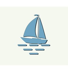 Sailboat yacht vector
