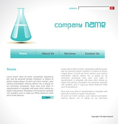 Science template vector