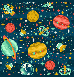 seamless space pattern vector image