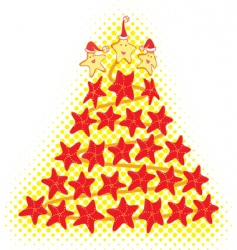 star fish christmas tree vector image vector image