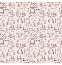 Women handbags seamless pattern vector