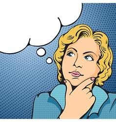 Women thinking vector