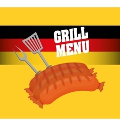 Sausage german food vector