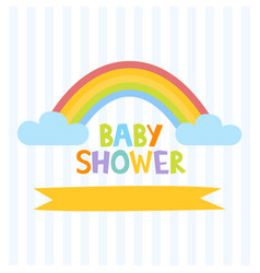 Cute baby shower invitation template with letters vector