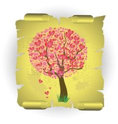 valentines tree vector image