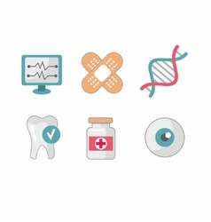 Set of flat science icons vector