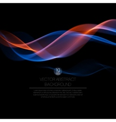 Wave smoke background vector image