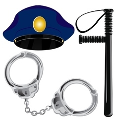 Police accessories vector