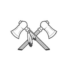 native american tomahawks vector image