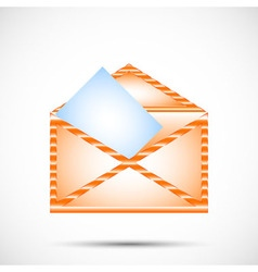 Mail envelope in color vector