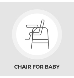 Chair for baby flat icon vector