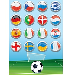 European Soccer Elements vector image