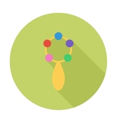 Rattle flat icon vector