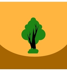 Flat icon design collection tree silhouette vector