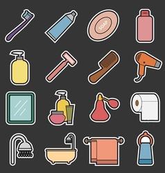 bathroom icon vector image