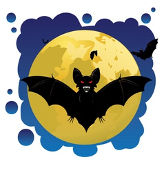 Bats and Moon vector image vector image