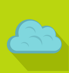 Big cloud icon flat style vector