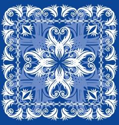 blue vintage otnament vector image vector image
